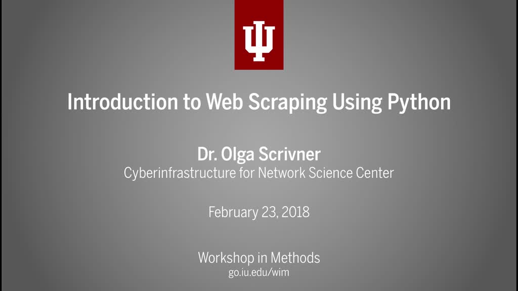Introduction to Web Scraping Using Python - Media Collections Online